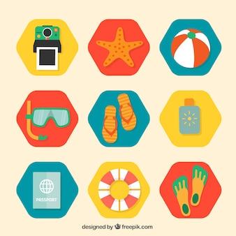 Sammlung von sommer-symbole