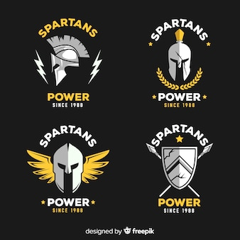 Sammlung von spartanischen abzeichen