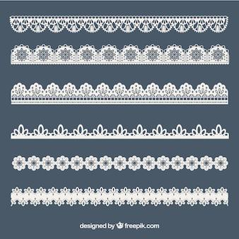 Sammlung von spitzen ornamenten