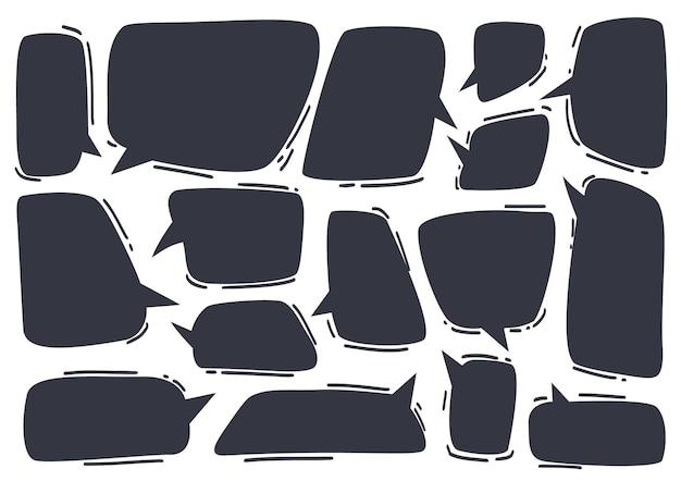Sammlung von sprechblasen und sprechblasen