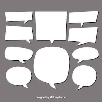 Sammlung von sprechblasen von unterschiedlicher form