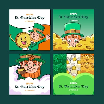 Sammlung von st. patrick's day social media post