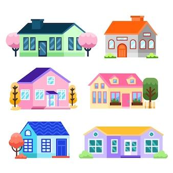 Sammlung von städtischen häusern