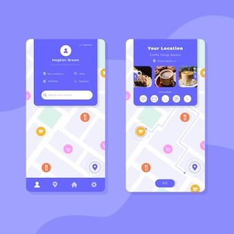 Sammlung von standort-app-vorlagen