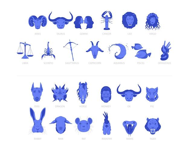 Sammlung von sternzeichen