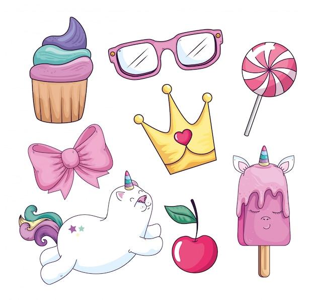 Sammlung von süß und fantasie