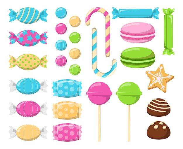 Sammlung von süßigkeiten und bonbons