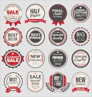Sammlung von super sale und preisausweis und etiketten
