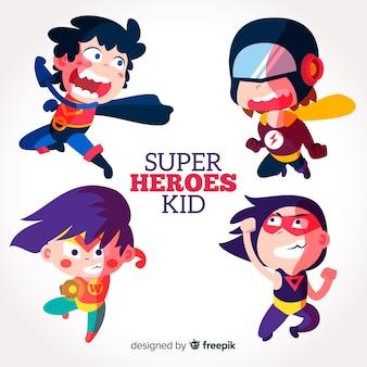 Sammlung von superhelden-kinder