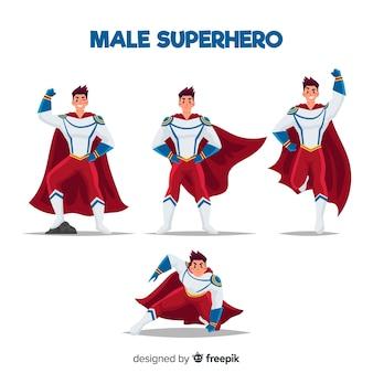 Sammlung von superhelden