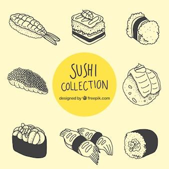 Sammlung von sushi