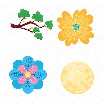 Sammlung von symbolen chinesisches festival