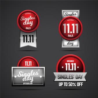 Sammlung von tagesabzeichen für singles