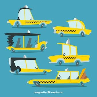 Sammlung von taxis mit verschiedenen designs