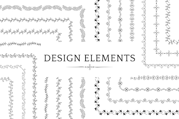 Sammlung von teiler designelement vektoren