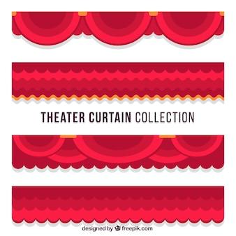 Sammlung von theatervorhängen in flaches design