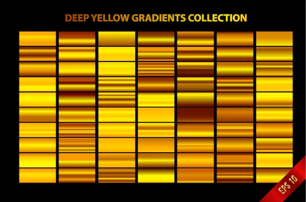 Sammlung von tiefen gelben farbverläufen