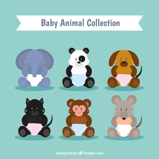 Sammlung von tierbabys