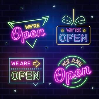 Sammlung von uns sind offene zeichen