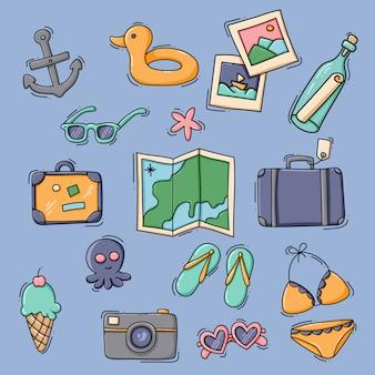 Sammlung von urlaub meer und reiseelementen