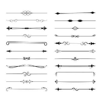 Sammlung von vektorteilern.