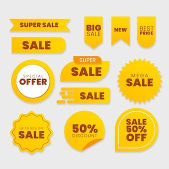 Sammlung von verkaufsaufkleber