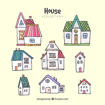 Sammlung von verschiedenen häusern