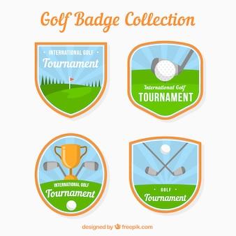 Sammlung von vier golf-etiketten