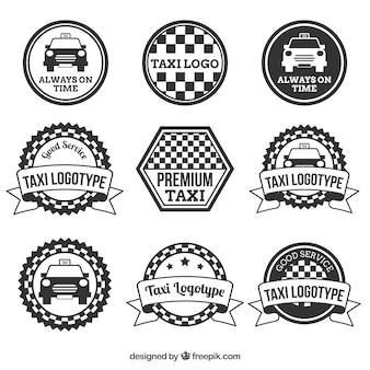 Sammlung von vintage-abzeichen cabbies