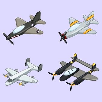 Sammlung von vintage-flugzeug