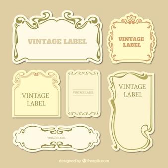 Sammlung von vintage-label