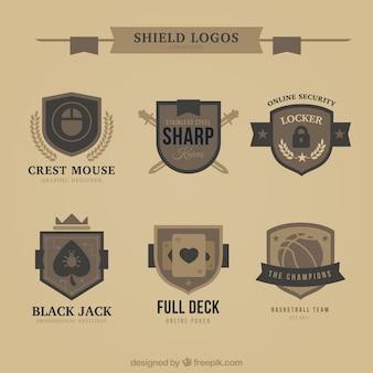 Sammlung von vintage-logo schilde