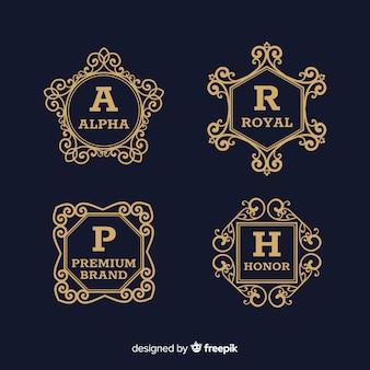 Sammlung von vintage ornamental logos