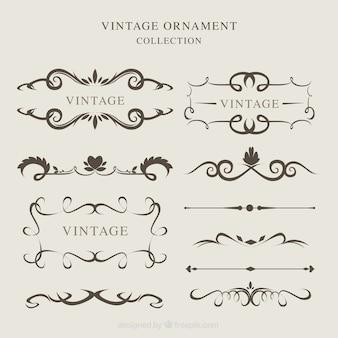 Sammlung von vintage-ornamenten