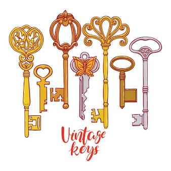 Sammlung von vintage-schlüsseln