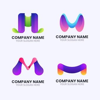 Sammlung von vorlagen mit m logos