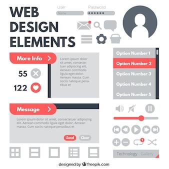Sammlung von web-element