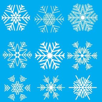 Sammlung von weihnachten schneeflockeentwürfe