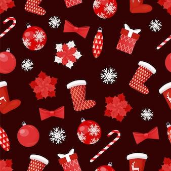 Sammlung von weihnachten spielzeug dekoration