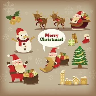 Sammlung von weihnachten weihnachtsmann