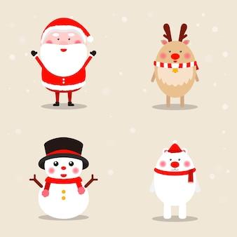Sammlung von weihnachtlichen themenikonen