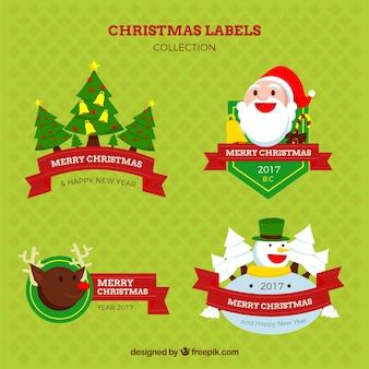 Sammlung von weihnachts-etiketten