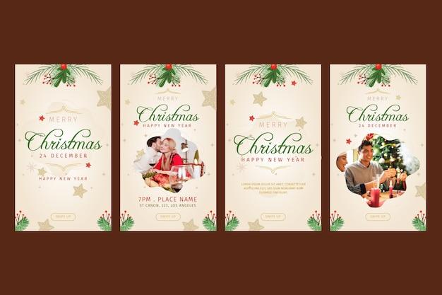 Sammlung von weihnachts-instagram-geschichten
