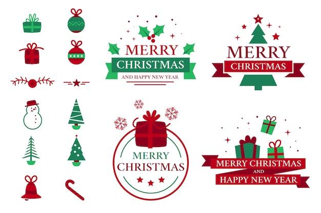 Sammlung von weihnachtsabzeichen