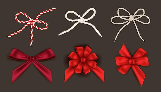 Sammlung von weihnachtsbändern
