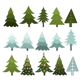 Sammlung von weihnachtsbäumen