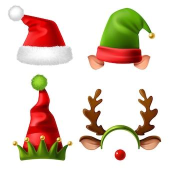 Sammlung von weihnachtsferienhüten