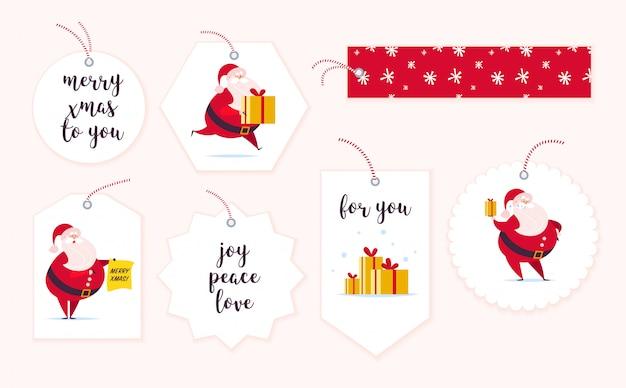 Sammlung von weihnachtsgeschenkanhänger.