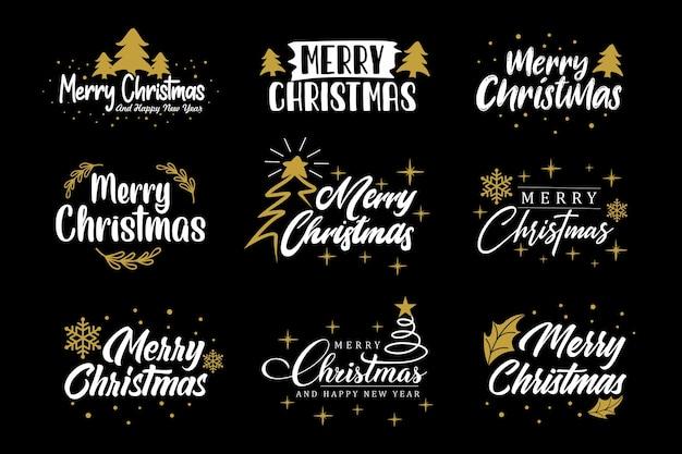 Sammlung von weihnachtsgrüßen