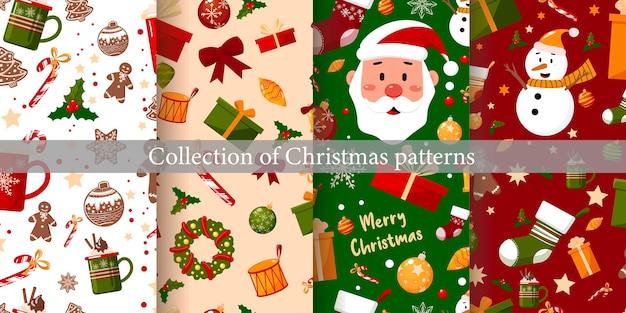 Sammlung von weihnachtsmustern.